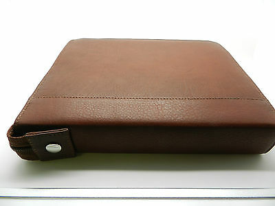 Fountain Pen Case for 24 Pens Leather Antique Brown back in stock