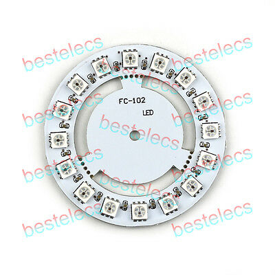 5050 16 Ultra Bright RGB Rainbow LED Round Lamp Panel WS2812 for Arduino