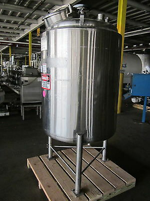 210 Gallon Stainless Steel Jacketed Sanitary Process Tank