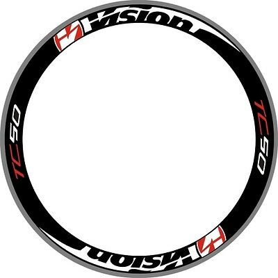 ROTHAR Wheel Rim Decals Stickers Replacement Set Of 8 Road Bike 700C 2RIMS RED