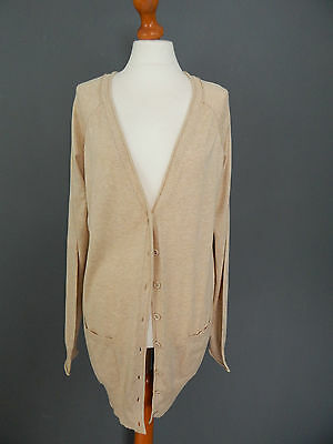 New - Mamas and Papas Maternity - Beige Long Cardigan - Size 12-14