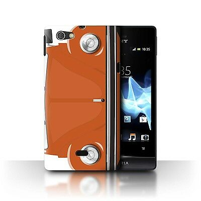 Case/Cover Sony Xperia Miro/ST23I / Retro Beetle / Bright Orange