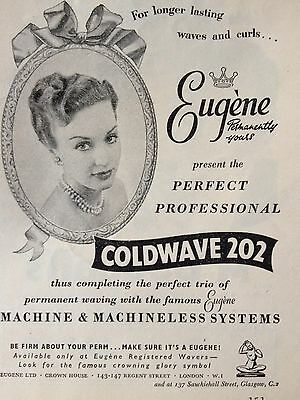 Vintage Original Print Ad 1953 (B4)~Coldwave 202 Waves And Curls Systems