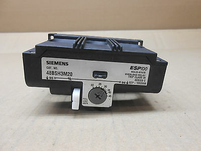 1 Nto Siemens 48Bsh3M20 Overload Relay Trip Class 20 Esp100 Series C Solid-State