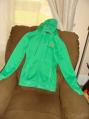 Under Armour Zip Front Hoodie W/strings Green Women's Size Xs/tp