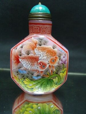 Exquisite Chinese  enamel glass Snuff bottle             6