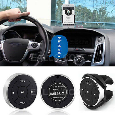 Car Wireless Bluetooth Remote Control Shutter Button For IOS  Android Phones NEW