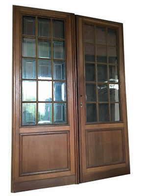 Antique French Gothic Doors, Solid Oak Circa 1900