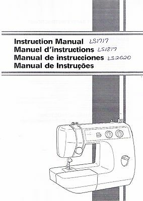 Brother LS1717 LS1817 LS2020 Sewing Machine User Guide Owners Instruction Manual