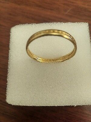 Ancient Celtic Iron Age Gold Finger Ring