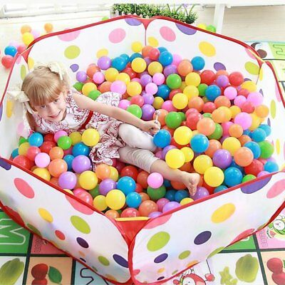 Kids Baby Playpen Ball Pit Portable Outdoor Indoor With Zippered Storage Bag New