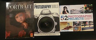 Photography Guide Manual Books Lot Photography Bible Portrait 52 Projects