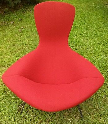 """New Knoll style Bertoia """"bird"""" chair full cushions in fabric colors  available"""