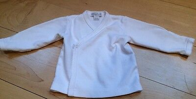 Kissy Kissy Baby Infant 0-3 Months Solid White Kimono Top Long Sleeve