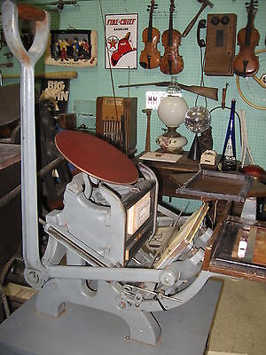 """Chandler and Price """"Pilot"""" press #205A   6 1/2 x 10 Letter Press Nice Good Shape"""