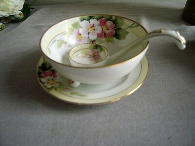 Nippon 3 Footed Bowl with Ladle and Plate