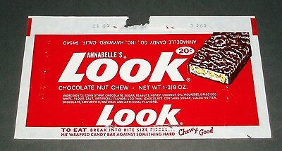 Vintage 1970's LOOK candy bar wrapper Annabelle Candy Co