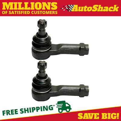 Set of 2 Premium Outer Tie Rod Ends Pair fits Left Driver & Right Passenger Side