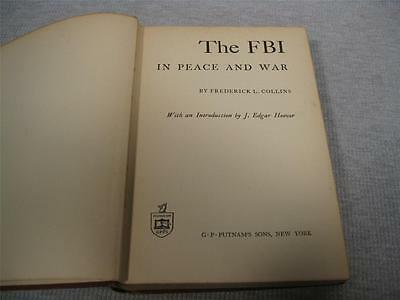 The FBI in Peace and War by Frederick L. Collins HC SIGNED 1st Edition