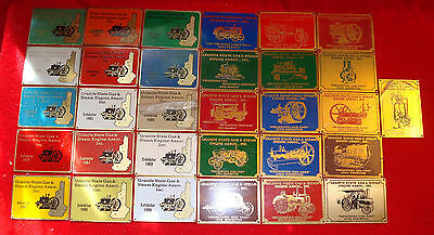31 Brass Exhibitor Plaques Granite State Gas & Steam Engine Assoc (1976-2006)