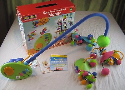 Tiny Love Mobile Symphony In Motion Baby Nursery Crib Toy with Box Instructions