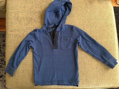 babyGab  Hooded Shirt  for Toddler Boys - Size 5 Years- Navy Blue