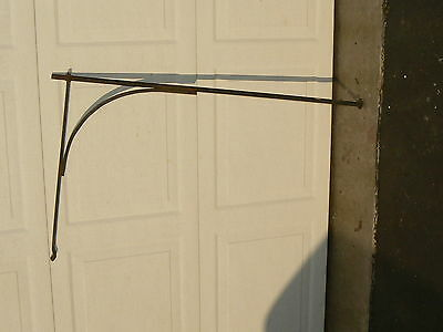 Antique Wrought Iron Open Hearth Fireplace Crane Arm c1800's