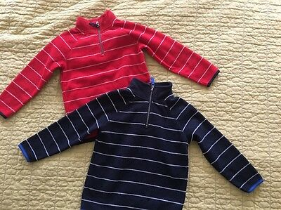 Lot Of 2 Old navy  Fleece Long-sleeve Shirt For Boys- Size 5T, striped