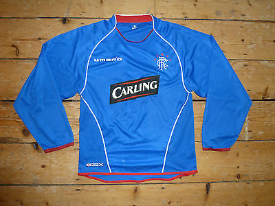 Glasgow Rangers Football Shirt adult:M Soccer Jersey Gers 2005/6 Long Sleeve