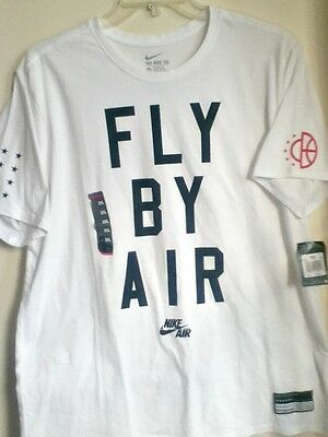 Authentic Nike Fly By Air 100% Cotton White T Shirt 822648-100
