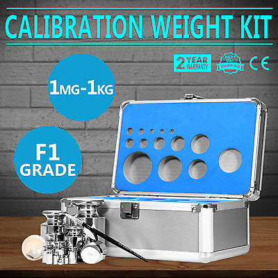 25Pcs 1000g Grams Precision Calibration Jewelry Scale Weight Set Kit Pocket Test