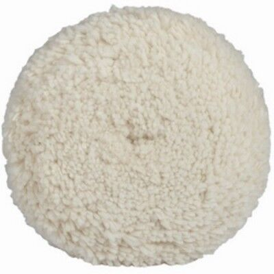 """Fast Cut Wool Buffing Pad, 7"""" Diameter, Twisted Wool, Hook and Loop Attachment"""