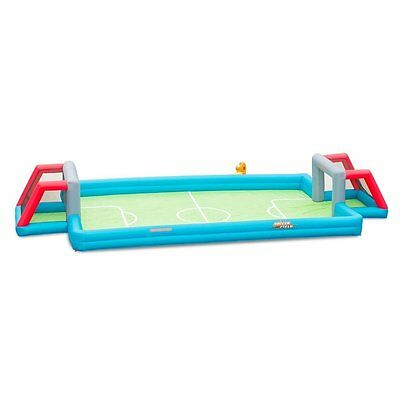 outdoor inflatable soccer field kids playset backyard sports games with blower