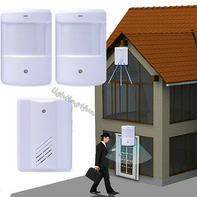 Door Bell Welcome Chime Alarm PIR Motion Sensor Shop Home Hotel Entry Security