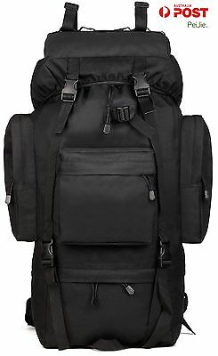 65L Waterproof Tactical Giant Hiking Camping Backpack(without raincover )