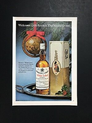Dewar's White Label Scotch | 1966 Vintage Ad | 1960s Holiday Liquor Whiskey