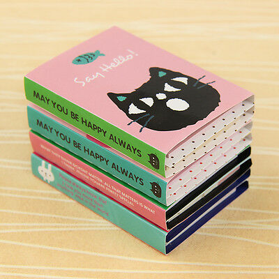 Cute Animal 180 Pages 4 Folding Memo Pad Sticky Note  Page Marker Planner