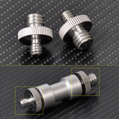 "2pcs 1/4"" to 3/8"" Male Threaded Screw Adapter for Camera Flash Tripod Ballhead"
