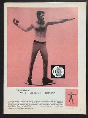 Mr Hicks Casuals | 1966 Vintage Ad | 1960s Men's Fashion Pink Football