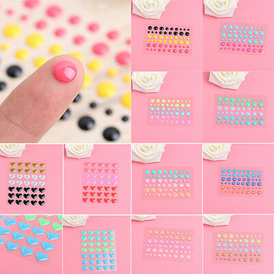 Enamel Dots Heart Resin Scrapbooking Stickers DIY Crafts Sticky Cards Making New
