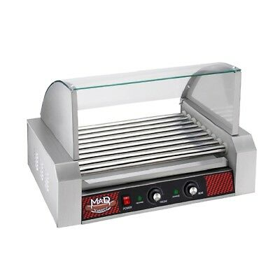 Great Northern Popcorn Commercial 24 Hot Dog 9 Roller Grilling Machine W/ Cover