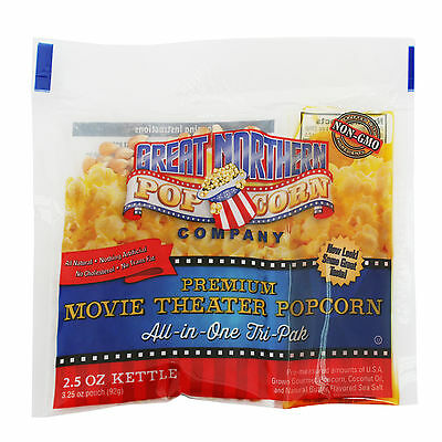 Great Northern Popcorn 2.5 Ounce All Natural Popcorn Portion Packs Case of 24