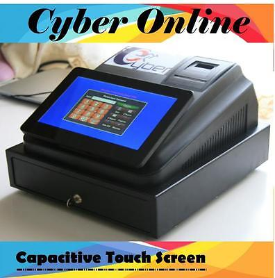 Brand New Cyber Touch screen Cash Register POS system+USB barcode scanner