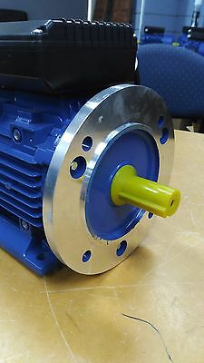 B5 FLANGE 1.5kw/2HP 1400rpm motor single-phase 240v REVERSIBLE CSCR shaft 24mm