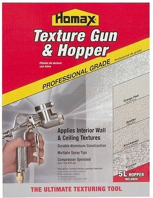 Homax Texture Paint Sprayer Gun Hopper Wall Ceiling Drywall Spray Painting Tool