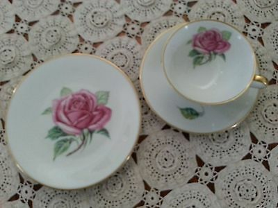 Heinrich Selb Bavaria Germany 3 Piece Cup and Saucer Set. Radiance.
