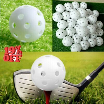 20 Pcs Plastic Whiffle Airflow Hollow Golf Practice Training Sports Balls Tackle