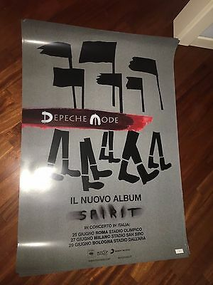 Depeche Mode Promo Poster Tour Italiano Di Spirit Limited Edition Numbered 34