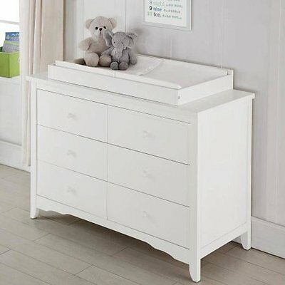 Baby Chest Dresser Topper Changing Drawer White New Free Shipping