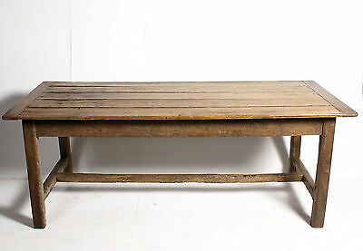 Superb Late C18th Antique Farmhouse French Ash Pine Refectory Dining Hall Table